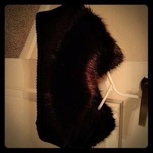 Faux fur neck wrap